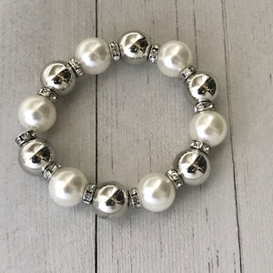 So Not Sorry White bracelet - Paparazzi Accessories - The Bling Peddler