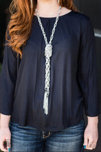 Load image into Gallery viewer, SCARFed for Attention - Silver Necklace - Paparazzi Accessories - The Bling Peddler