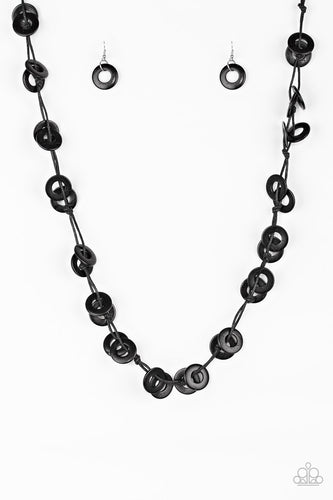 Waikiki Winds - Black Necklace- The Bling Peddler - Paparazzi Accessories