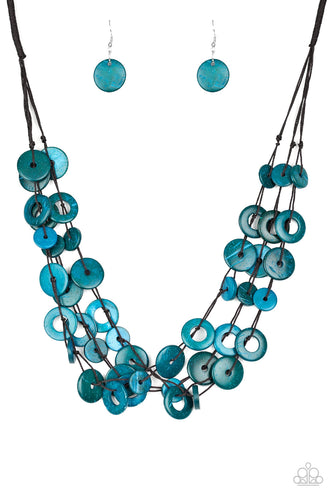 Wonderfully Walla Walla - Blue Necklace - Paparazzi Accessories - The Bling Peddler