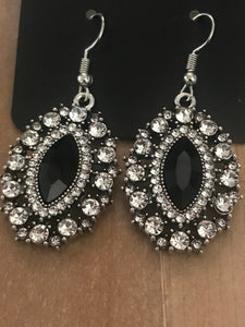 Long May She Reign - Black Earrings - Paparazzi Accessories - The Bling Peddler