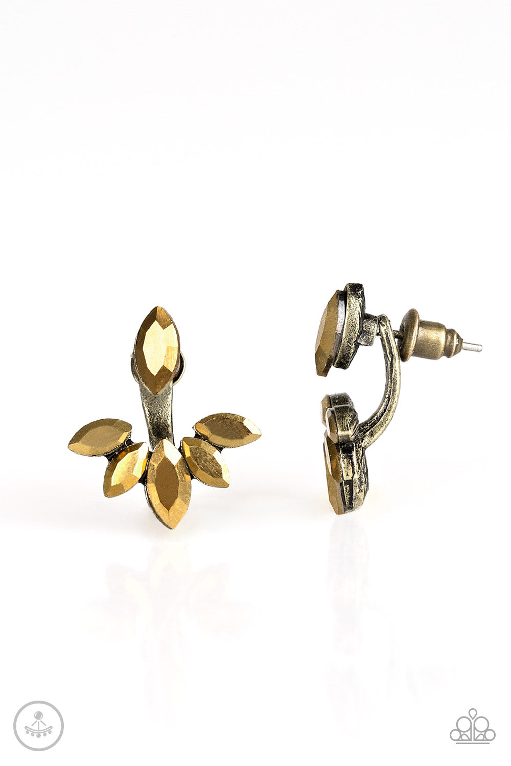 Radical Refinement - Brass Earrings - Paparazzi Accessories - The Bling Peddler