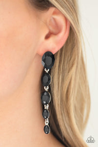 Red Carpet Radiance - Black Earrings - Paparazzi accessories - The Bling Peddler
