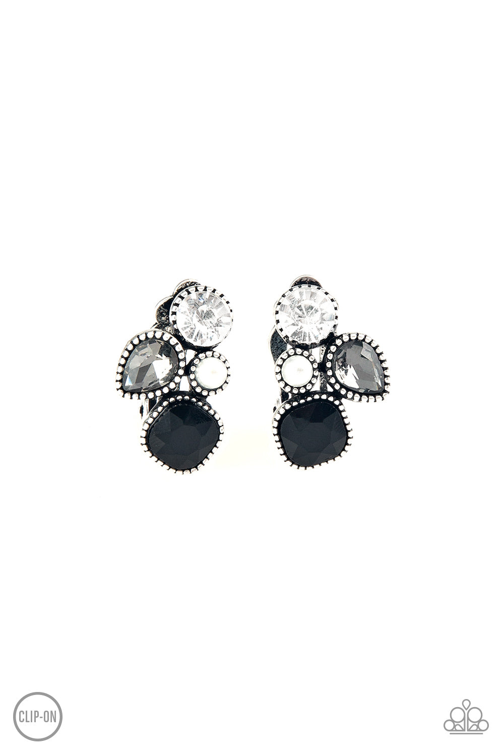 Super Superstar - Black Earrings - Paparazzi accessories - The Bling Peddler