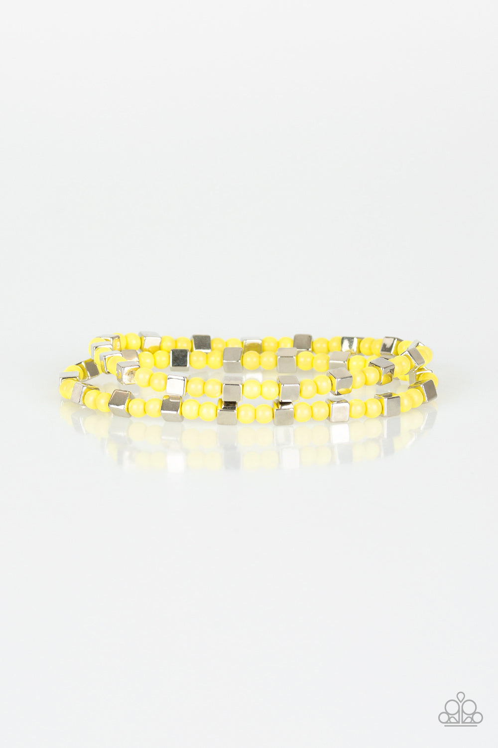 Trendy Tribalist - Yellow bracelet- Paparazzi Accessories - The Bling Peddler