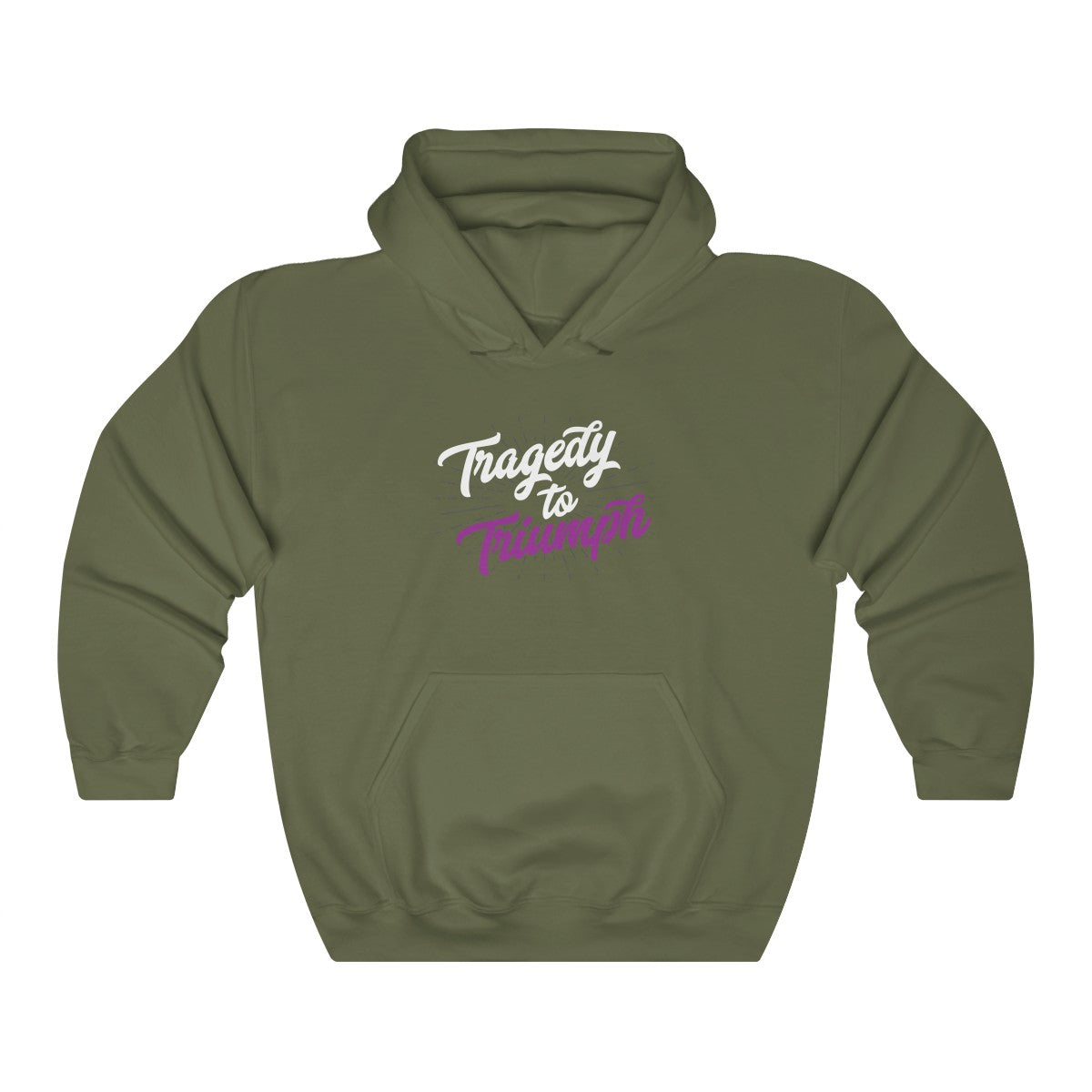 Tragedy to Triumph (Purple) Hooded Sweatshirt