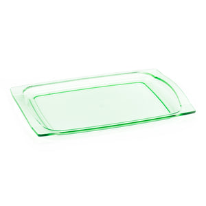 "Wide Tray Plastic (Green) 6""x8-5/8"""