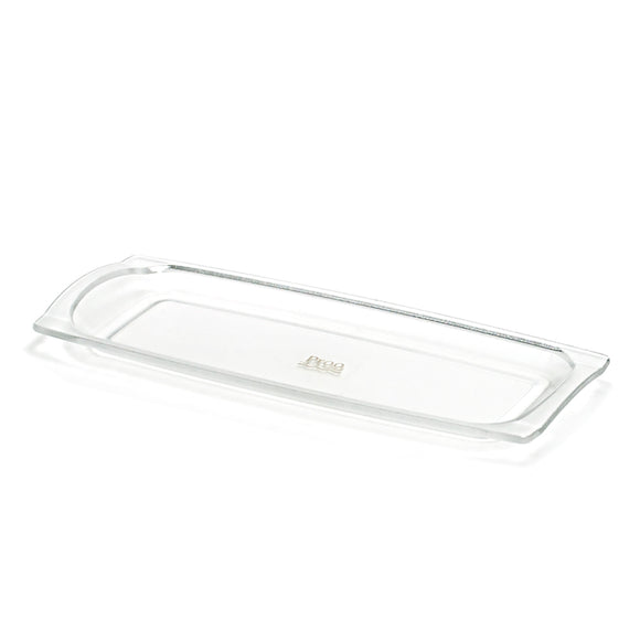 Slim Rectangular Tray Plastic (Clear) 9