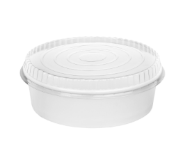 48oz Disposable Paper Short Buckets with Lid (45 pcs)