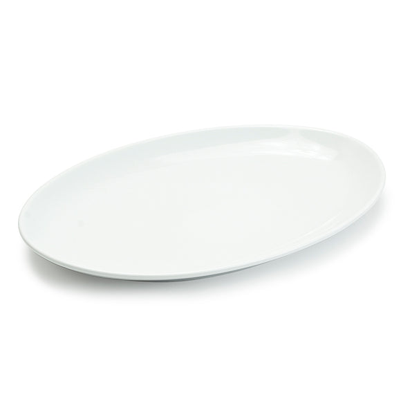 White Oval Plate No.7 - 14
