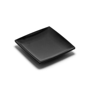 "7-1/4"" Melamine Square 1/2""Deep Plate, Black"