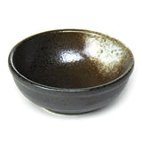 "Round Porcelain Sauce Bowl 3-1/2"", Black/Brown"