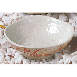 "4-3/4"" Melamine Wave Rice Bowl, Gold Orchid"