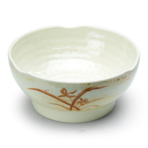 "6-1/2"" Melamine Round Soup Bowl, Gold Orchid"
