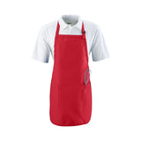 Apron Full Length w 2 Pocket, 3 Colors (White/Black/Red)