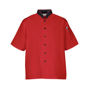 Euro Lightweight Chef Coat Shirt S/M/L/XL - Red/Black