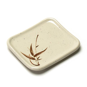 "Melamine Rectangular Plate 4-3/4""x4"", Autumn Grass"