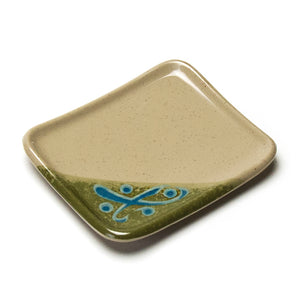 "Melamine Rectangular Plate 4-3/4""x4"", Green"