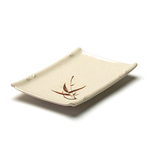 "Melamine Rectangular Plate 6-5/8""x4-1/2"", Autumn Grass"