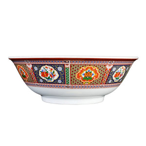 "9-3/4"" Melamine Rimless Bowl, Peacock 70oz"