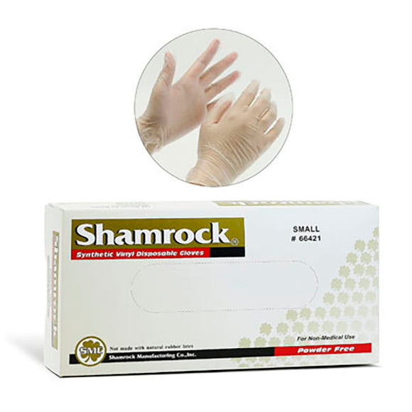 Gloves Disposable Powder Free Vinyl S.100pc , Clear