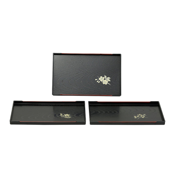 Rectangular Flower Lacquer Tray 10