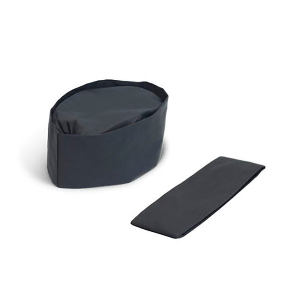 Wa Boshi Large Chef Skull Cap, Black - M/L/XL