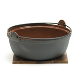 "Iron Nabe Pot 9.5"" (24cm) w/Lid & Base"