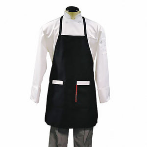 "Apron w/ 2 Pocket, Neck Strap 28""x30"" Black"