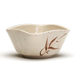 "Melamine Square Sauce Bowl 3-1/2"", Autumn Grass"