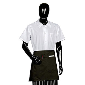 "Apron 1/2 Bistro 2 Center Pockets 28""x19"", Black"