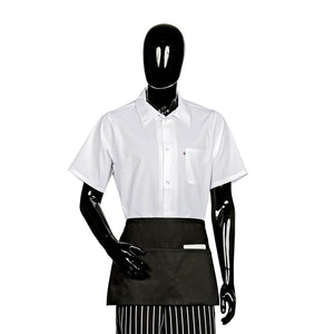 "Waist Apron, Three Fold-Up Pockets 22""x12″, Black"