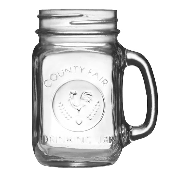 Libbey 97085 County Fair Mason Drinking Jar 5-1/4