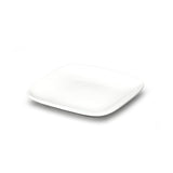 "6-3/4"" Square Plate, White Ceramic"