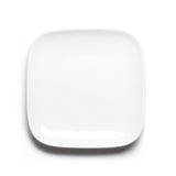 "7-3/4"" Square Plate, White Ceramic Ceramic"