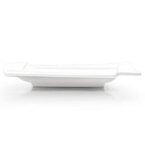 "12-1/4"" Tilted Square Plate, White Ceramic"