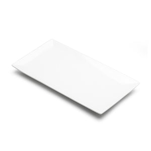 "9.5""x5"" Rectangular Plate, White Ceramic"