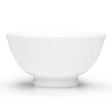 "5""D Rice Bowl, White Ceramic"