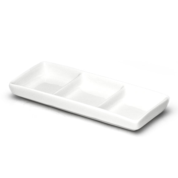 3-Compartment Sauce Plate 8