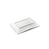 "7""x5"" Rectangular Plate, White Ceramic"