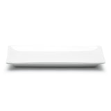 "10-1/2""x4"" Rectangular Dish, White Ceramic"