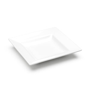 "8"" Square Plate, White Ceramic"