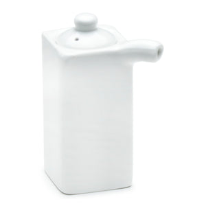 "Sauce Pot 3-1/2""H, White Ceramic"