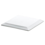 "5-1/4"" Square Plate, White Ceramic"