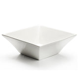 "11-3/4"" Square Bowl, White Ceramic"