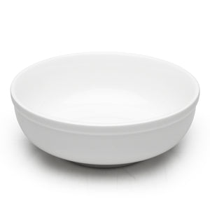 "9-1/8""x3-3/8"" Round Noodle Bowl, White Ceramic"