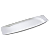 "17""x4-1/2"" Rectangular Plate, White Ceramic"