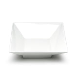 "8-1/2"" Square Bowl, White Ceramic"