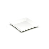 "7-1/8"" Square Bowl, White Ceramic"