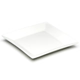 "12"" Square Plate, White Ceramic"